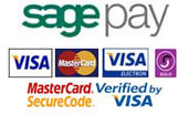 Payments made securely by SagePay