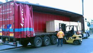 V Compact Crates On Forklift