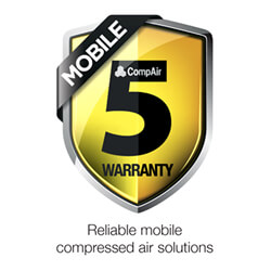 CompAir five year warranty C Series