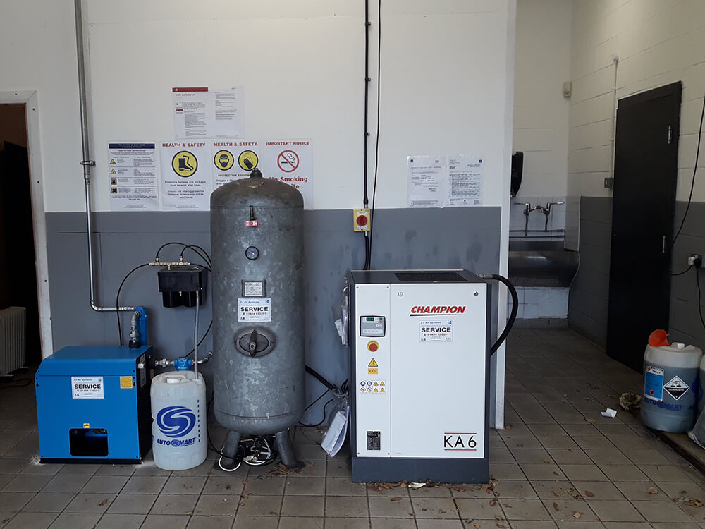 Champion Air Compressors for BMW Tyre Fitting Bay